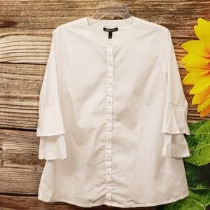 Isabella Oliver maternity white mid Sleeve top